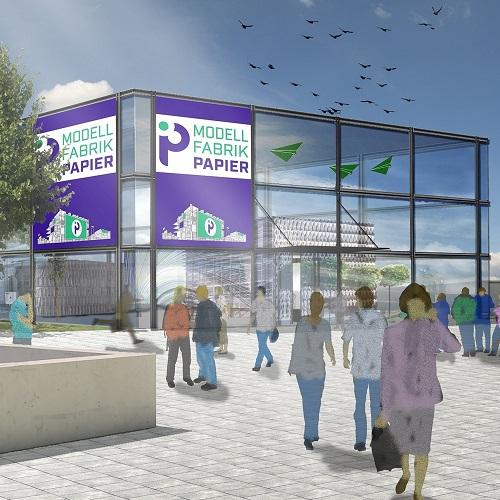 Visualisierung der geplanten Modellfabrik Papier