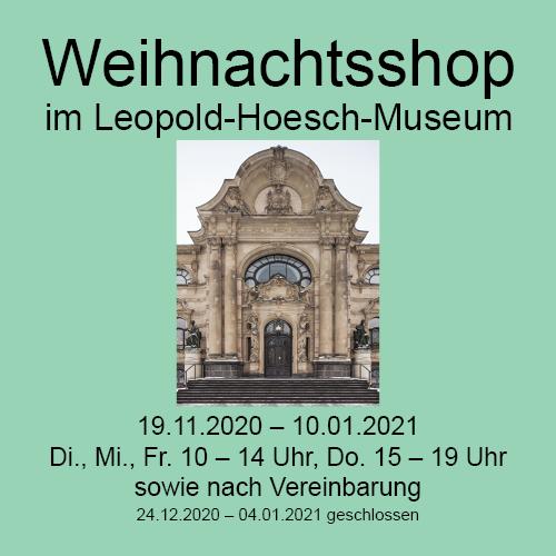 Visualisierung des Texts mit Abb. Fassade Leopold-Hoesch-Museum